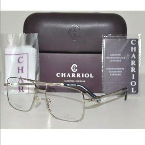 Charriol TITANIUM Eyeglasses PC75037 C06 Silver 58